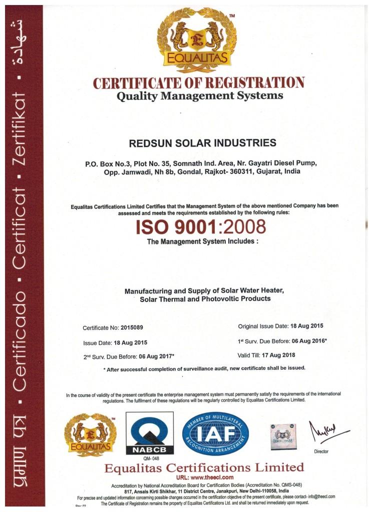 Redsun Solar 9001-2008